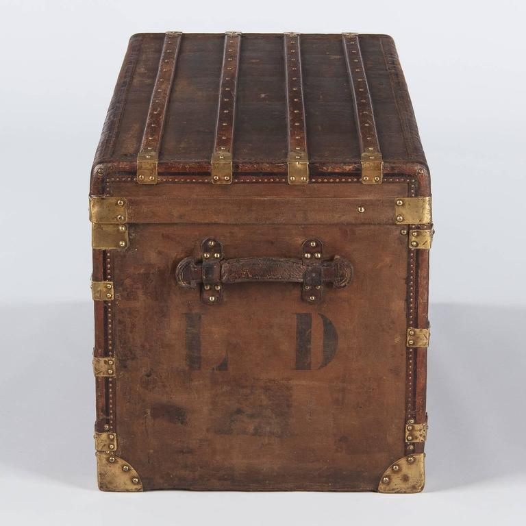 French Traveling Trunk, Early 1900s For Sale 3