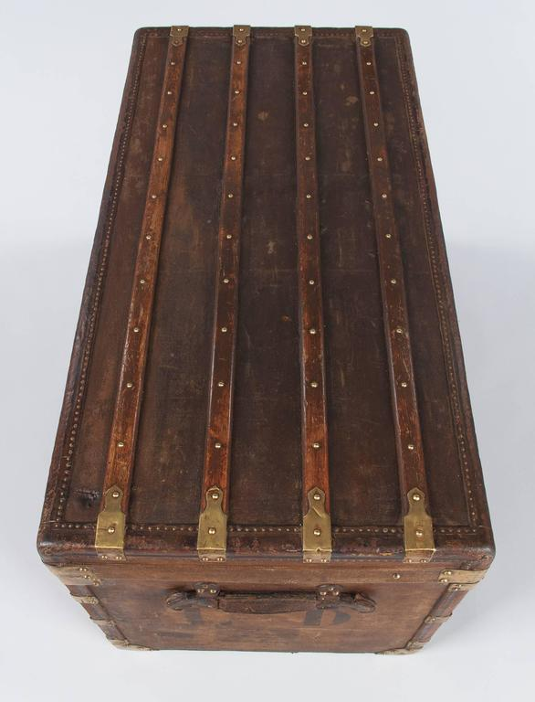 French Traveling Trunk, Early 1900s 8