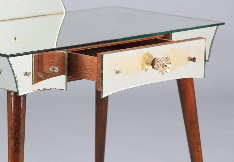 20th Century Mid-Century Mirrored Venetian Glass Vanity Table, 1950s For Sale