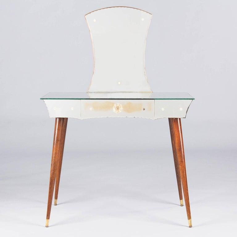 Mid-Century Mirrored Venetian Glass Vanity Table, 1950s For Sale 3