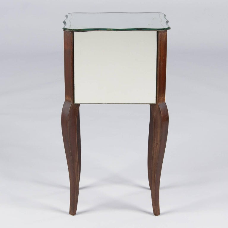 French Mid-Century Mirrored Venetian Glass Two-Drawer Chest, 1950s For Sale 2