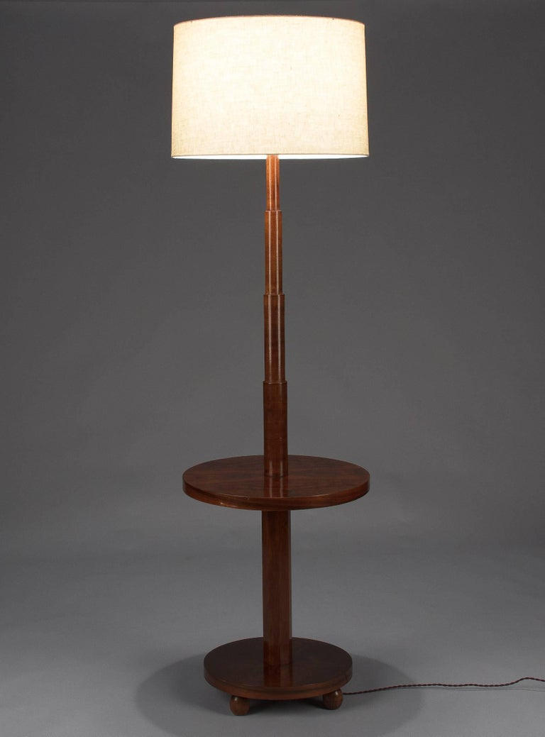 French art deco burl walnut floor lamp 1930s for sale at for 1930 floor lamps