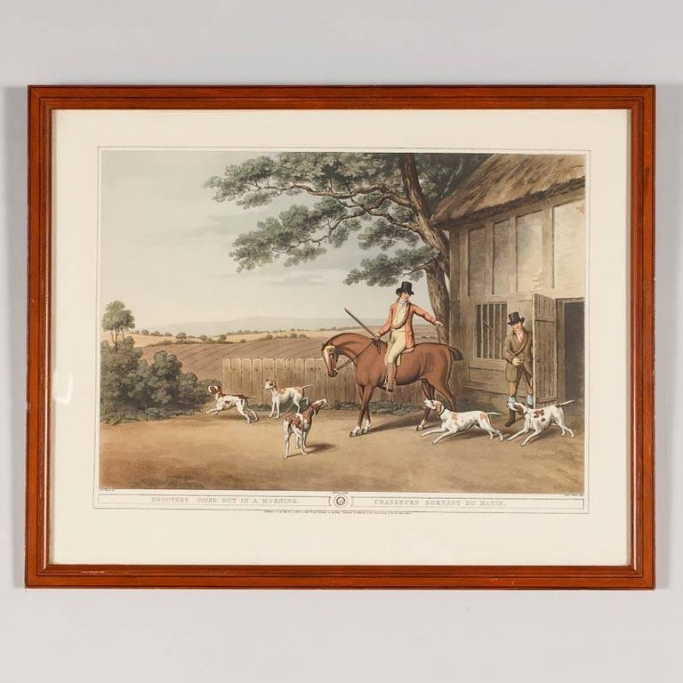 Set Of Four Frames With Hunting Scene Prints England