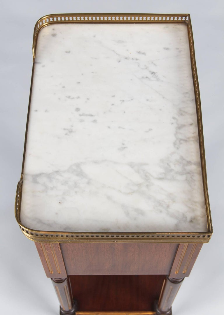 Louis XVI Style Marble-Top Bedside Cabinet, 1920s For Sale 2