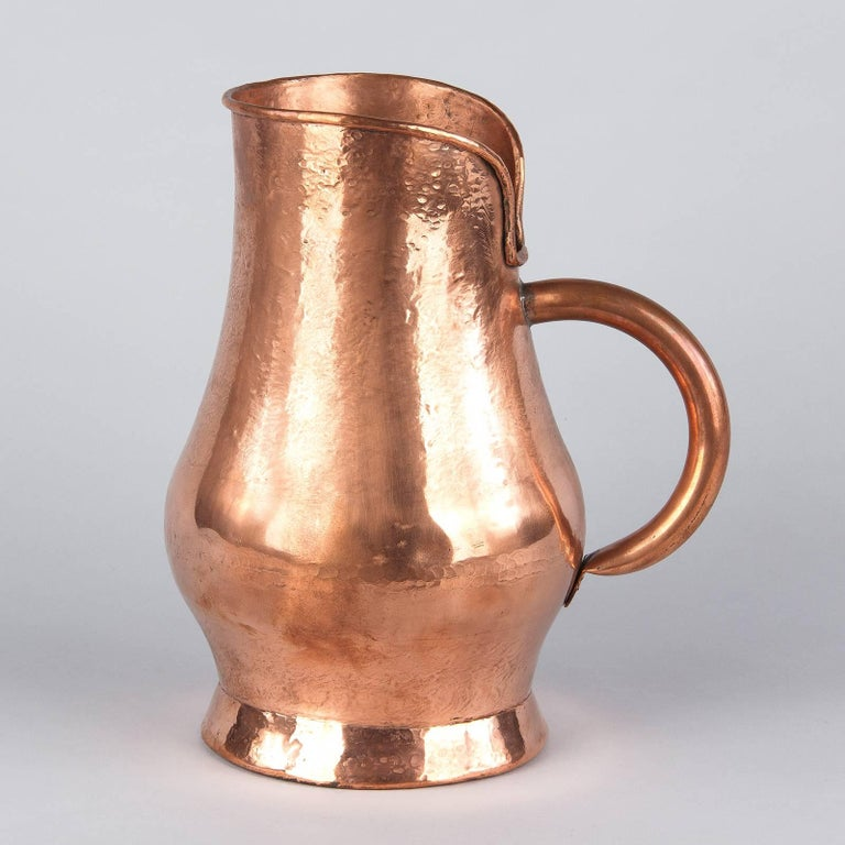 20th Century French Copper Wine Pitcher, Burgundy Region, 1900s For Sale