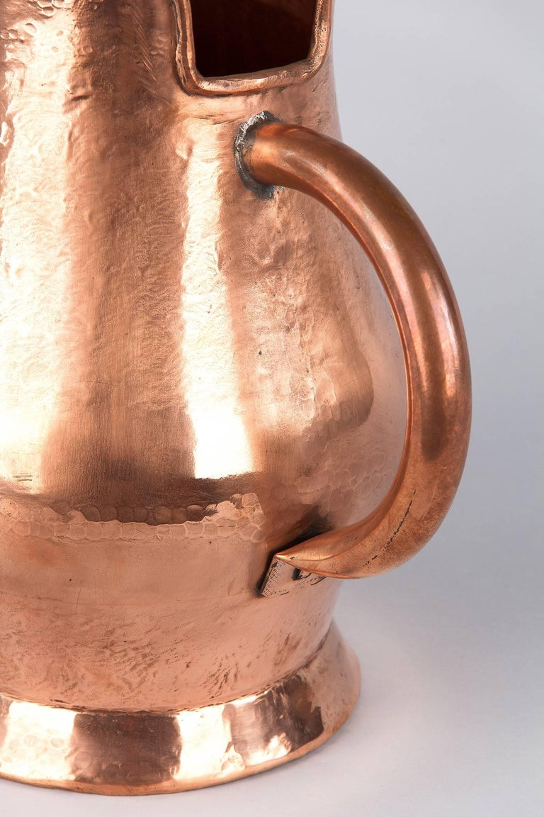 French Copper Wine Pitcher, Burgundy Region, 1900s For Sale 2