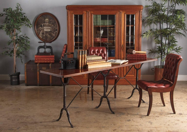 dark mahogany furniture. A Pair Of Lively Red Leather Tufted English Side Chairs With Mahogany  Frames, Circa 1950 Dark Furniture