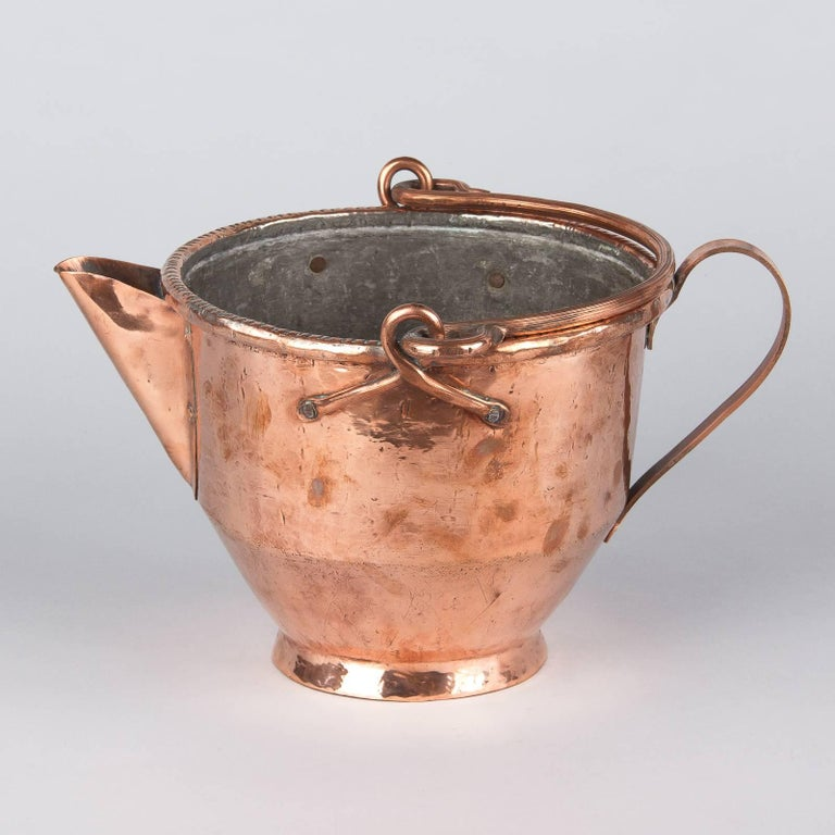 French Copper Wine Pitcher, Burgundy Region, 1900s For Sale 3
