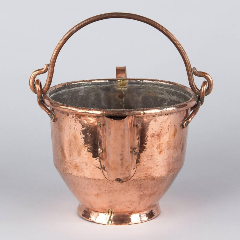 French Provincial French Copper Wine Pitcher, Burgundy Region, 1900s For Sale