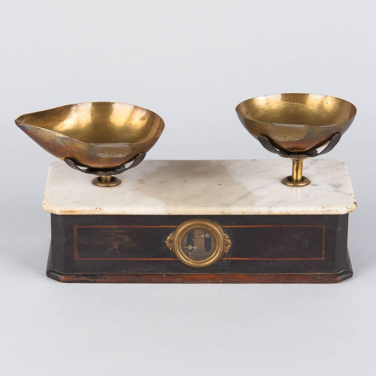 French Napoleon III Herbalist Scale, France, 1870s For Sale