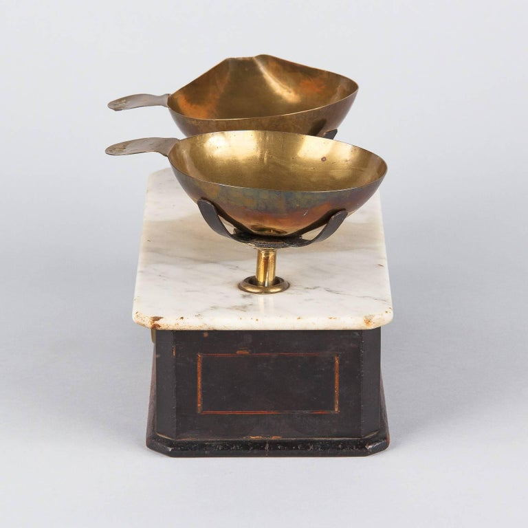 Brass Napoleon III Herbalist Scale, France, 1870s For Sale