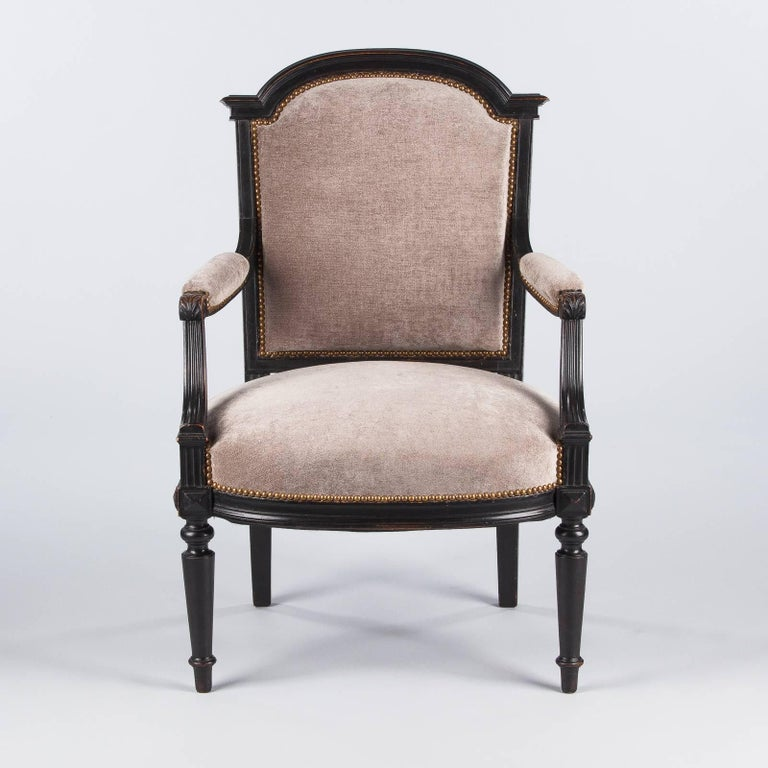 French Napoleon III Ebonized Armchair, 1870s For Sale 2