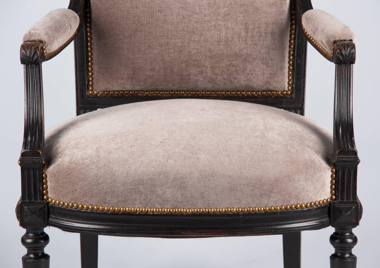 French Napoleon III Ebonized Armchair, 1870s For Sale 3