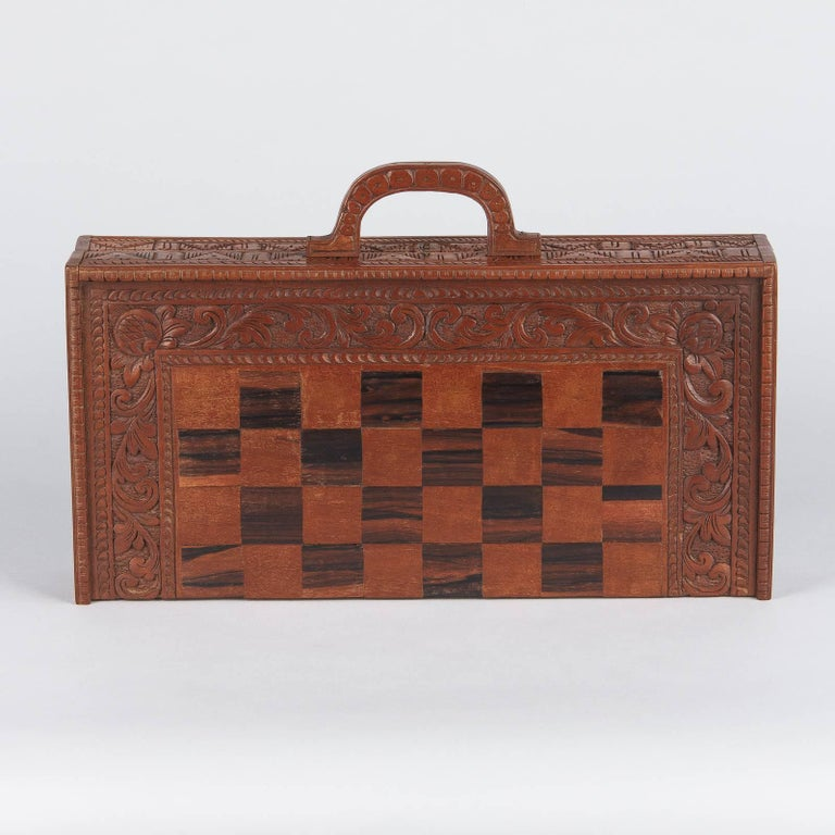 Checker's Game Box in Beechwood, France, 1920s 3