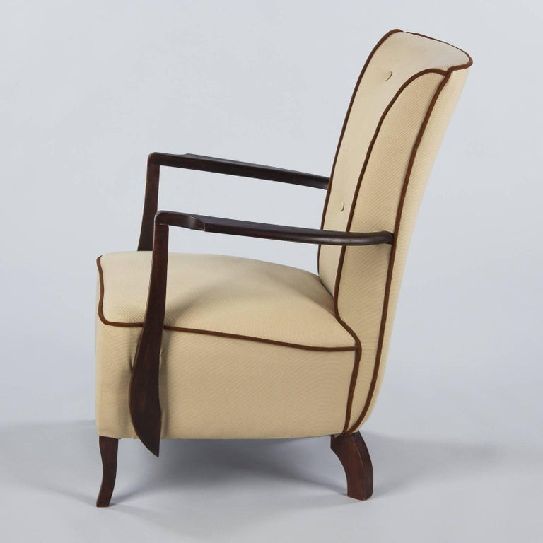 French Art Deco Armchair, 1940s For Sale at 1stdibs
