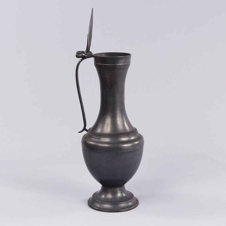 20th Century French Pewter Pitcher, 1940s For Sale