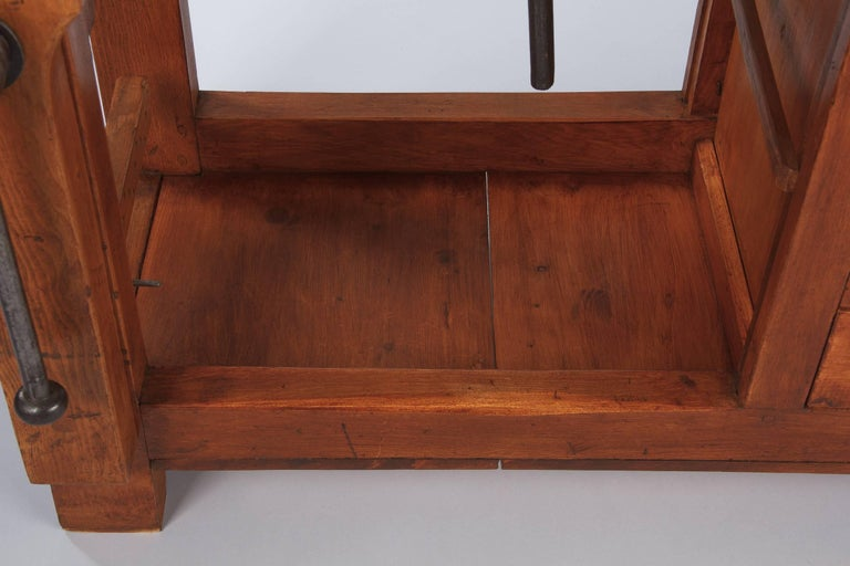 French Carpenter's Workbench in Elm, 1950s For Sale 6