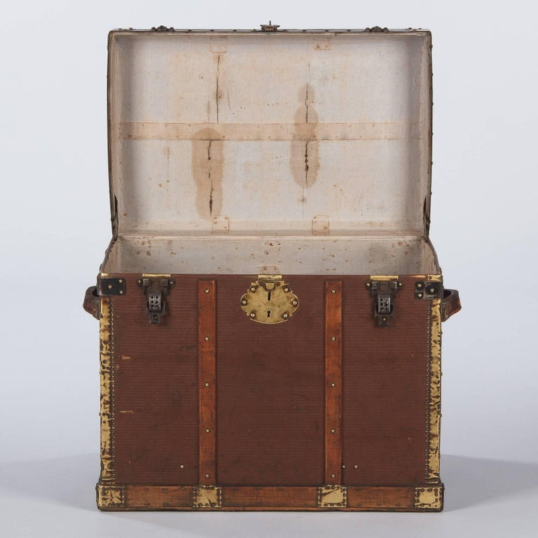 French Traveling Trunk, Early 1900s For Sale 6