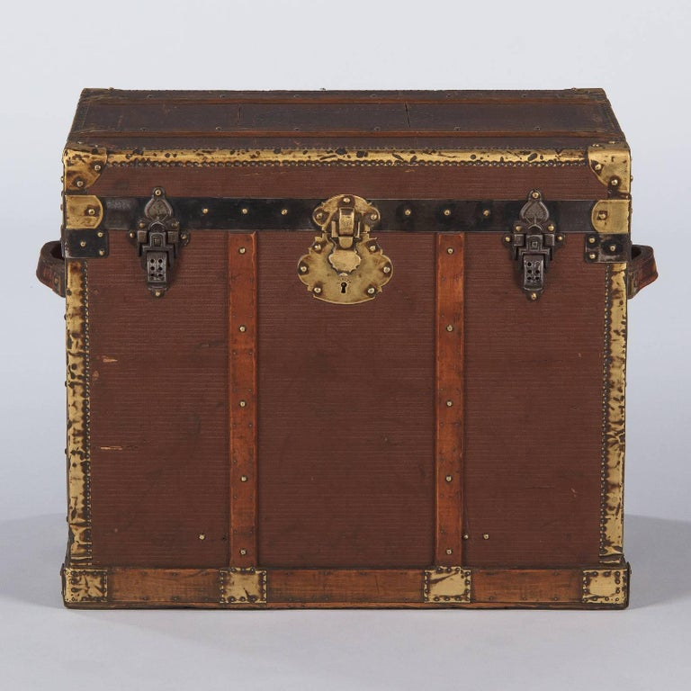 French Traveling Trunk, Early 1900s For Sale 8