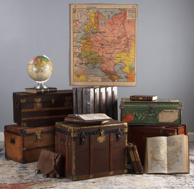 French Traveling Trunk, Early 1900s For Sale 9