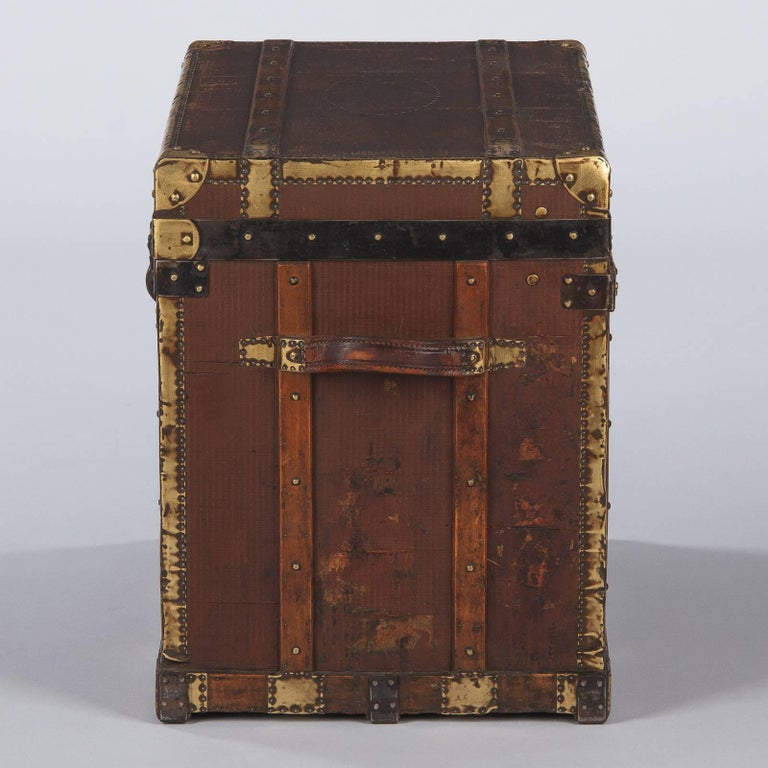 French Traveling Trunk, Early 1900s For Sale 10