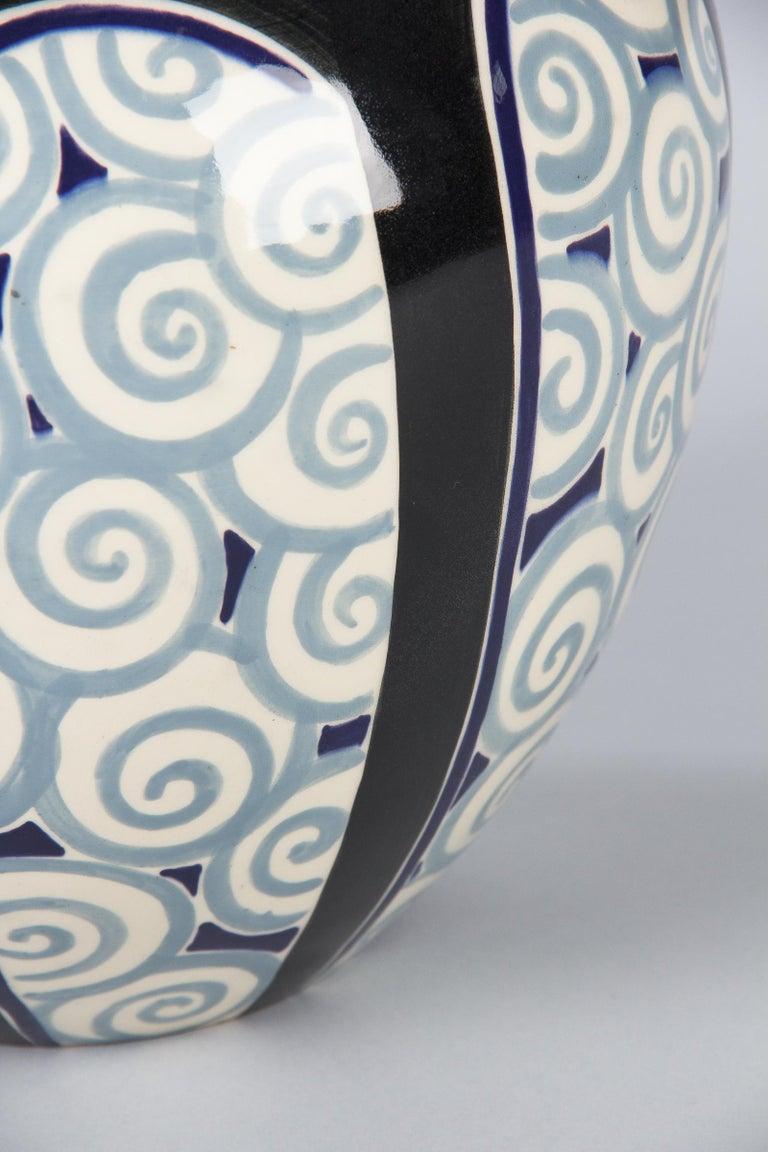 French Art Deco Glazed Ceramic Vase, 1930s For Sale 7