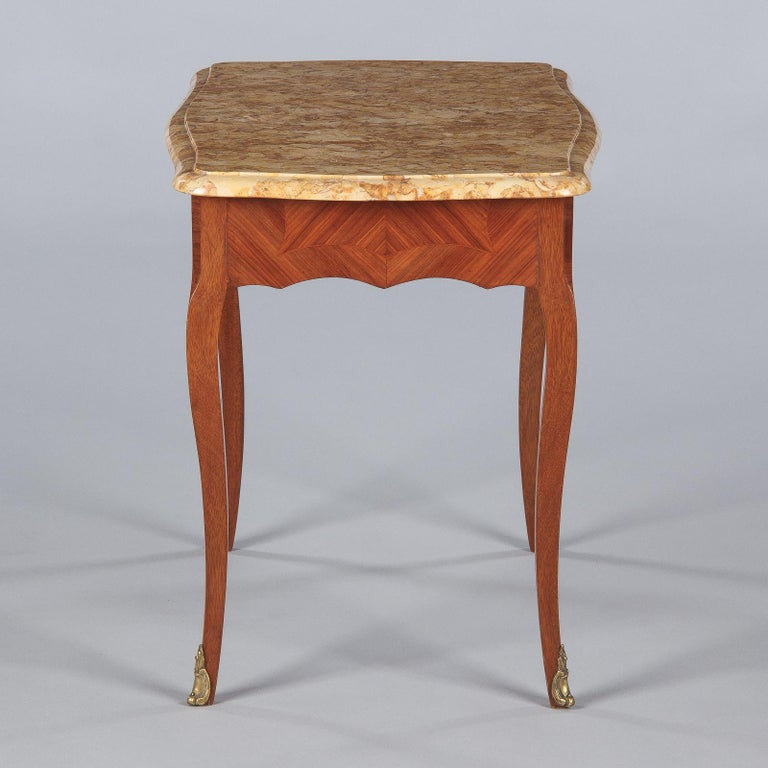 French Louis XV Style Marble Top Side Table, 1940s For Sale 2