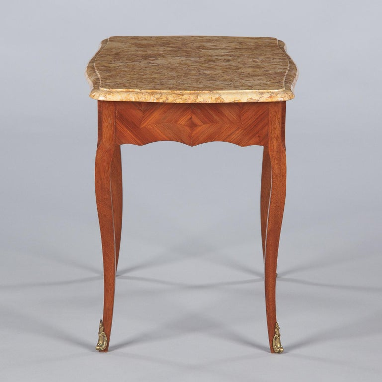 French Louis XV Style Marble Top Side Table, 1940s For Sale 8