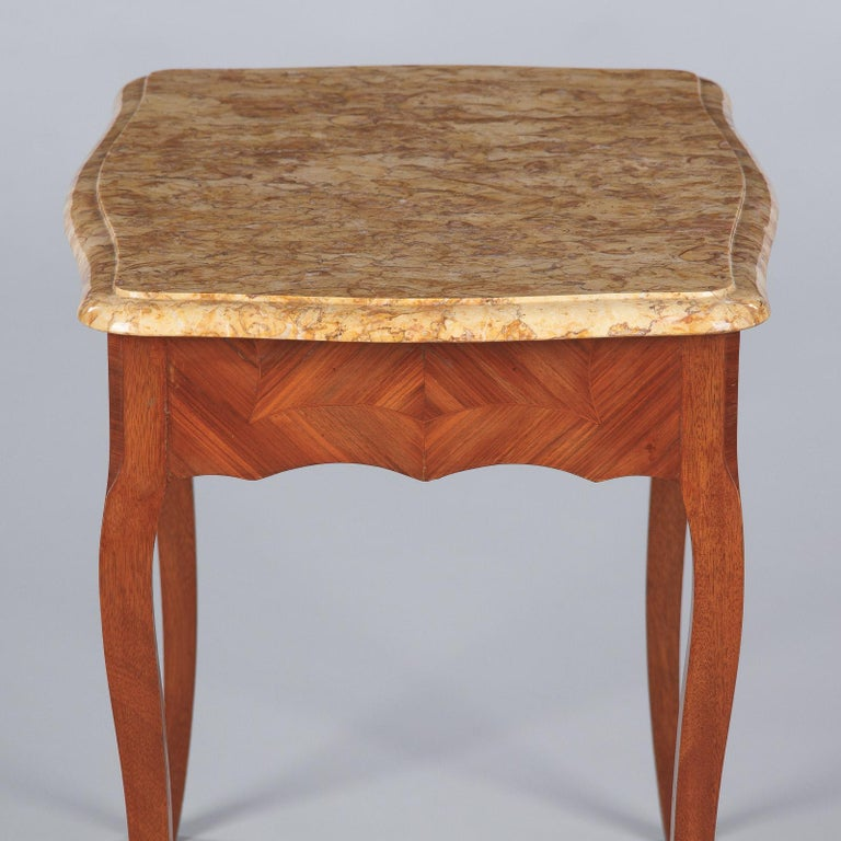 French Louis XV Style Marble Top Side Table, 1940s For Sale 13