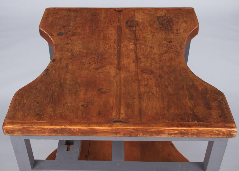 French Countrystyle Double-Faced Jeweller's Worktable or Desk, 1900s For Sale 3