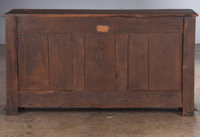 18th Century French Louis XIV Oak Buffet For Sale 5