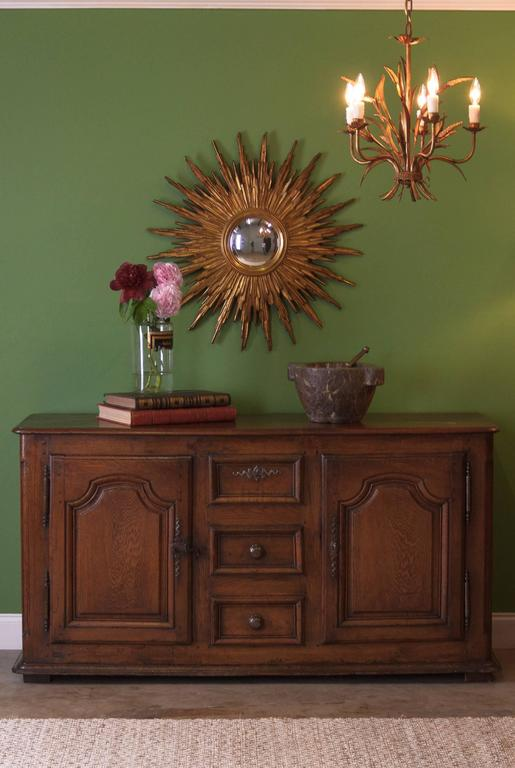 18th Century French Louis XIV Oak Buffet In Good Condition For Sale In Austin, TX