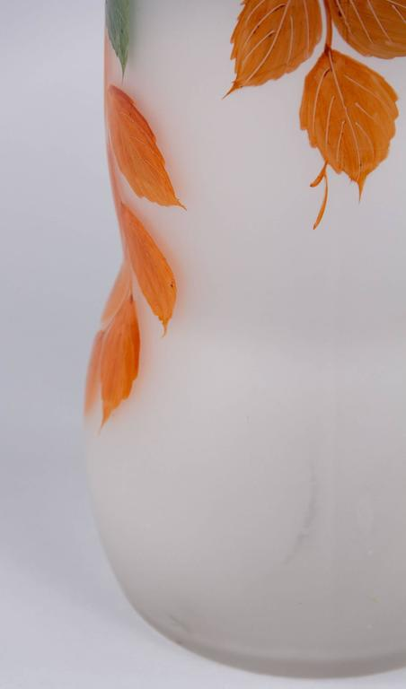 French Frosted Glass Vase, 1900s For Sale 1