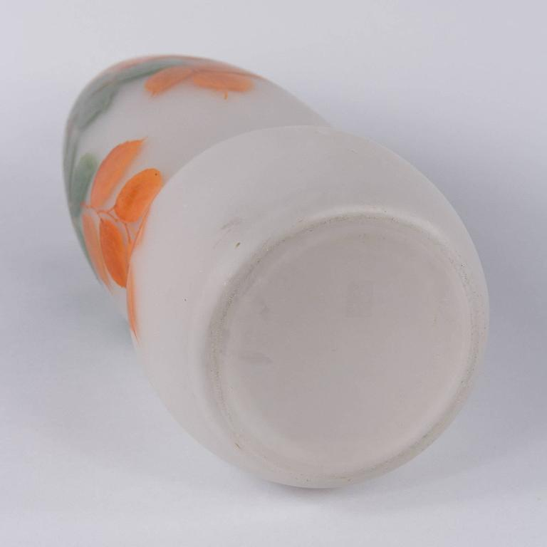 French Frosted Glass Vase, 1900s For Sale 5
