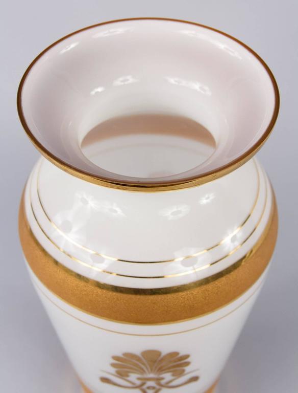 French Vintage Opaline Glass Vase, 1950s 3