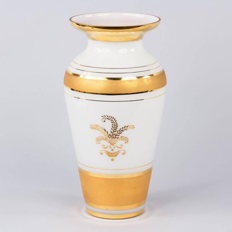 French Vintage Opaline Glass Vase, 1950s 7