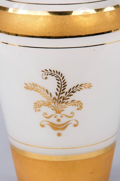 French Vintage Opaline Glass Vase, 1950s 9