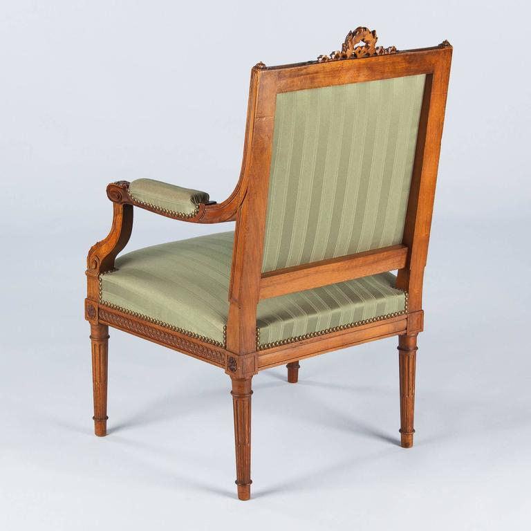 French Louis Xvi Style Desk Armchair Early 1900s For Sale