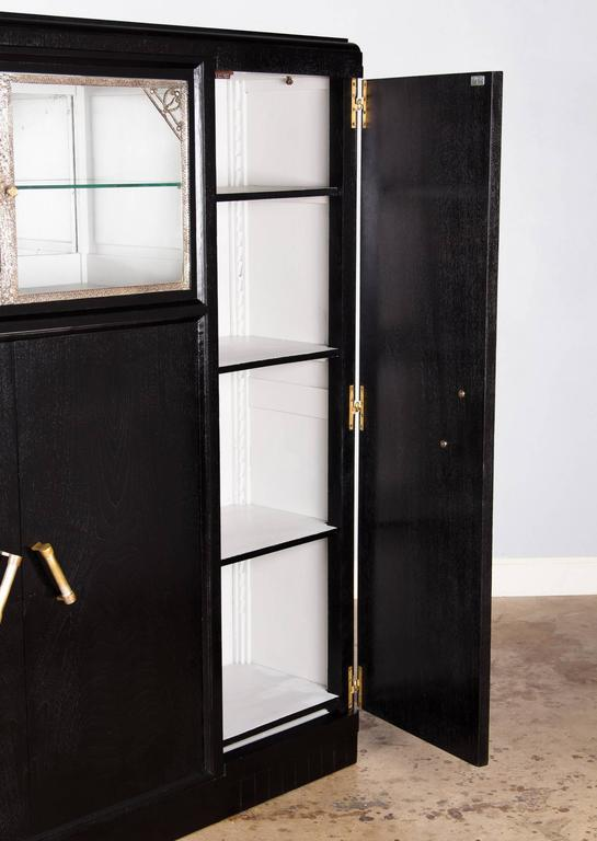 French Art Deco Armoire Painted Black, 1930s For Sale 3