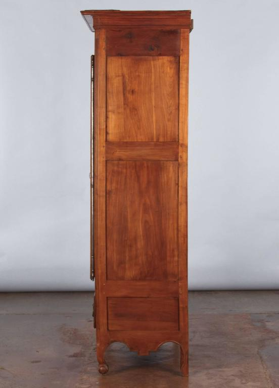 French Louis XV Cherrywood Bonnetiere Armoire, 18th Century For Sale 5