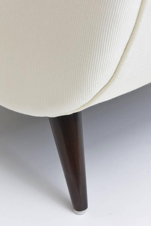 Midcentury Melchiorre Bega Italian Modern Dark Walnut Upholstered Club Chairs For Sale 1