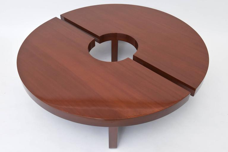 Each piece semi-circular, with tapering block legs, to form a circle or an