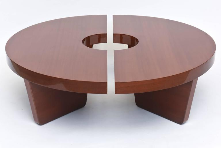 Mid-Century Modern American Modern Mahogany Two Part Low Table, Harvey Probber For Sale