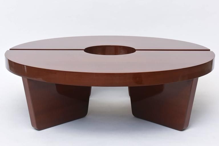 American Modern Mahogany Two Part Low Table, Harvey Probber In Excellent Condition For Sale In Miami, FL