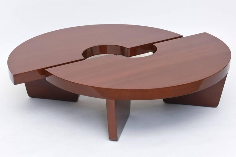 Mid-20th Century American Modern Mahogany Two Part Low Table, Harvey Probber For Sale