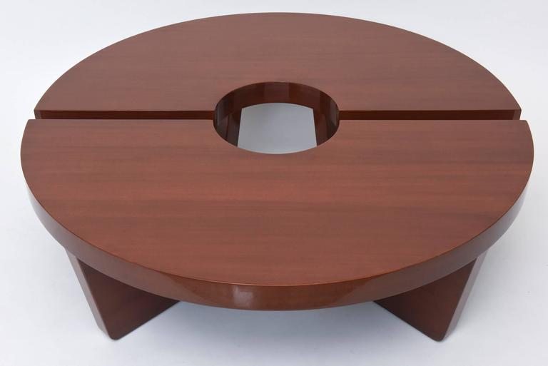 American Modern Mahogany Two Part Low Table, Harvey Probber For Sale 2