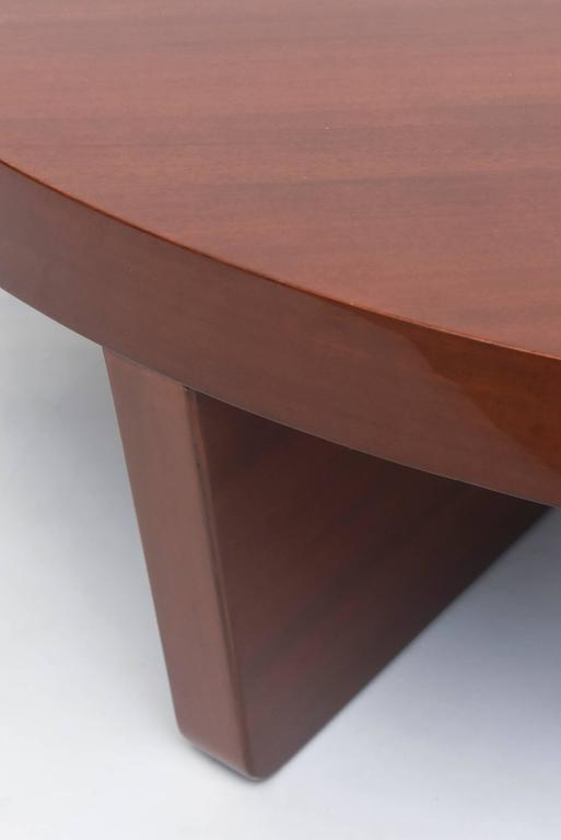 American Modern Mahogany Two Part Low Table, Harvey Probber For Sale 4