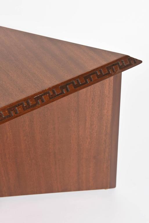 "Pair of American Modern Triangular ""Talesin"" Low Tables, Frank Lloyd Wright 5"