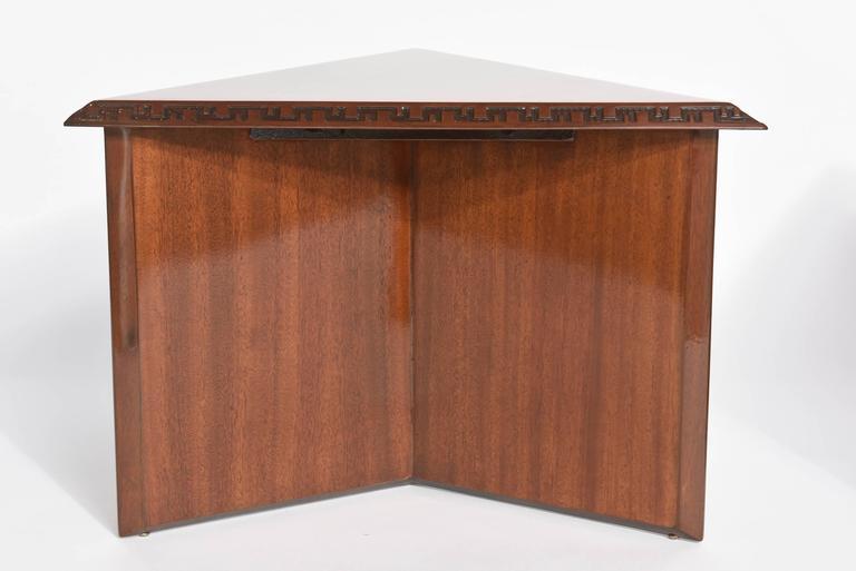"Pair of American Modern Triangular ""Talesin"" Low Tables, Frank Lloyd Wright 4"
