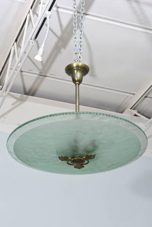Swedish modern frosted and etched glass chandelier orrefors for mid century modern swedish modern frosted and etched glass chandelier orrefors for sale aloadofball Choice Image
